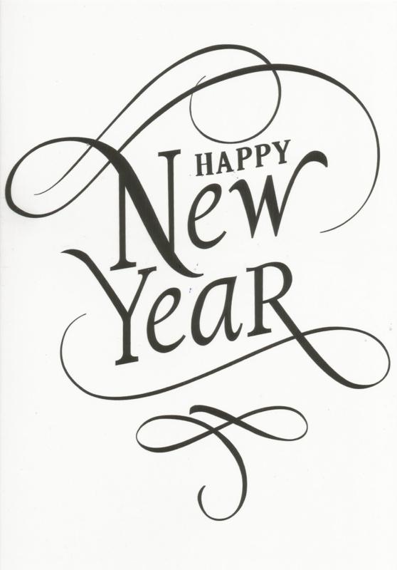 97 0013 - Luxe wenskaart happy new year