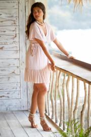 Wrap dress Dani short Powder Pink HOT LAVA