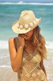 Hat Shell Flower White