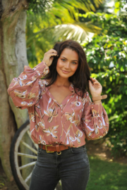 Blouse Detroit Hawaii Pink KARMA