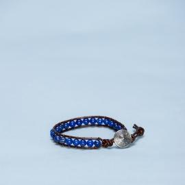 Armband lapis lazuli met metalen sluiting