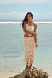 Skirt Crochet Fringe Ivory