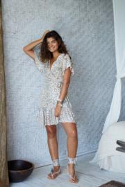 Wrap dress Dani short leopard HOT LAVA