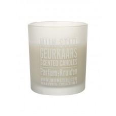 Geurkaars parfum kruiden wit glas