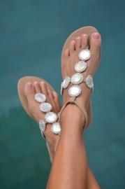 Buli M.O.P. Silver beads taupe