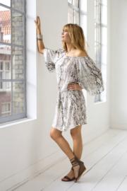 Dress Bibione Snake Charcoal