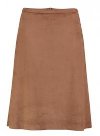 Skirt Balou suedine camel brown