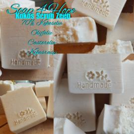 Kokos zeep met zachte scrub