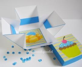 Puppy Thee bonbon doosje blauw