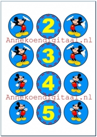 Mickey Mouse traktatie toppers