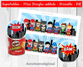 Superhelden Mini Pringles Wikkels