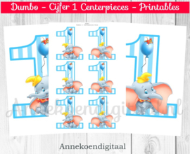 Dumbo cijfer Centerpieces Blauw