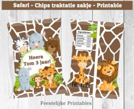 Safari chips traktatie zakje