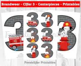Brandweer cijfer Centerpieces