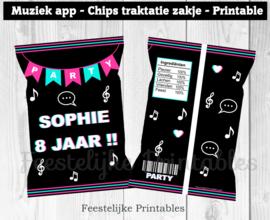 Muziek app chips traktatie zakje