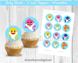 Baby Shark toppers 2 inch