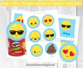 Emoji Mini Pringles Wikkels