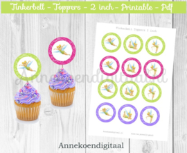 Tinkerbell Toppers 2 inch