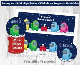 Among us Mini Pringles Wikkels