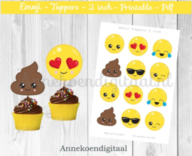 Emoji Toppers 2 inch