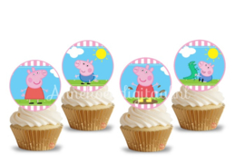 Peppa Pig Toppers 2 inch Roze