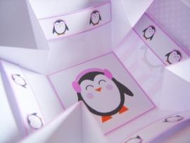 Pinguïn meisje thee bonbon doosje