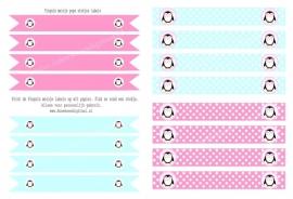 Pinguïn meisje pops labels