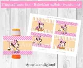 Minnie Mouse 1ste verjaardag Bellenblaas wikkel