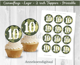 Camouflage toppers cijfer