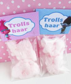 Trolls traktatie zakje label