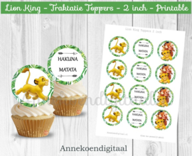 Lion King traktatie toppers 2 inch
