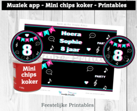 Muziek app Mini Pringles Wikkels en Toppers