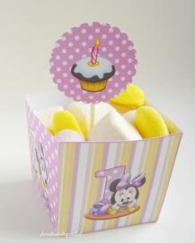 Minnie Mouse 1ste verjaardag snack box