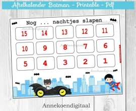 Aftelkalender Batman