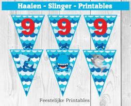 Haaien Slinger met leeftijdcijfer