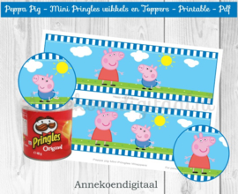 Peppa Pig Mini Pringles Wikkels Blauw