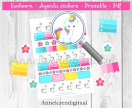 Eenhoorn Agenda Stickers