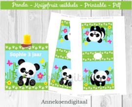 Panda knijpfruit wikkel