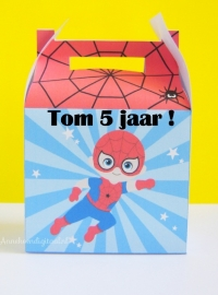 Superheld Spiderman traktatie doosje