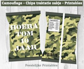 Camouflage chips traktatie zakje