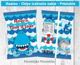 Haaien chips traktatie zakje
