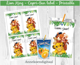 Lion King Capri-Sun label