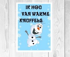 Frozen Olaf en knuffels poster