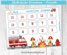 Aftelkalender Brandweer