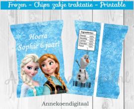Frozen chips traktatie zakje