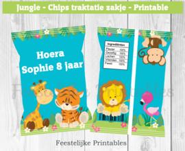 Jungle chips traktatie zakje