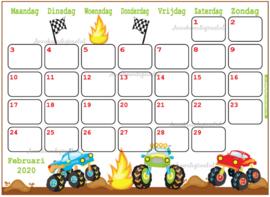 Februari 2020 kalender serie Jongens