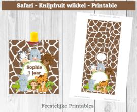 Safari knijpfruit wikkel