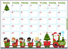 December 2020 kalender serie Jongens