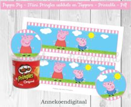 Peppa Pig Mini Pringles Wikkels Roze